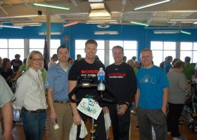 Team # 11 - Team Scheels - They biked the most miles on the spinner bikes with a team total of 54.15 miles
