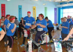 Team #14 E.R. showing team spirit and endurance